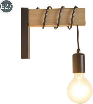 Anclk Lámpara De Pared Madera Estilo Rústico Lámpara De Iluminación Escalera Vintage Dormitorio Apliques De Pared Decorativa Escalera Estilo Industrial Iluminación De Pared Para Restaurante Ático: Amazon.es: Iluminación