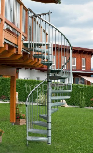 Außentreppe Rondo Zink / Durchmeser 120 cm