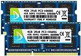 DUOMEIQI 8GB(2 X 4GB) Pc3-10600 ddr3 1333Mhz Sdram Pc3 10600 ddr3-1333 Pc3-10600S Pc3 10600s Sodimm 2Rx8 204-Pin CL9 1.5V Non-Ecc Unbuffered for Laptop