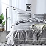 Grey Comforter Set Queen, Ultra Soft Microfiber Reversible Down Alternative Comforter Set - 3 Pieces (1 Solid Comforter Set + 2 Pillow Shams), Bedding Inner Filling Duvet Set for All Season Queen Size