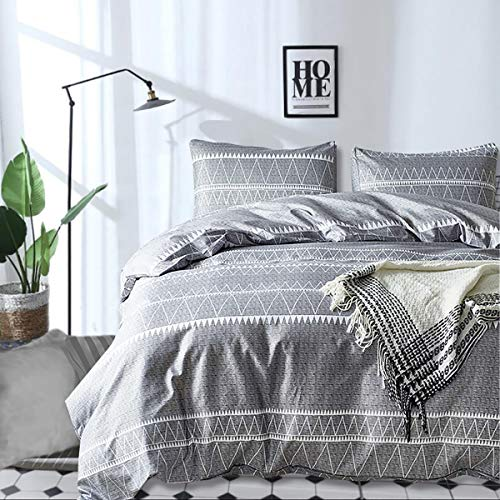 Grey Comforter Set Queen, Ultra Soft Microfiber Reversible...