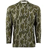 Mossy Oak Men's Camo Long Sleeve Performance Tech Tee Hunting Shirt, Original Bottomland, X-Large
