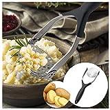 99AMZ Kartoffelpresse, Mit Rund-Lochung, Edelstahl Kartoffel Stampfer Babynahrung Sieb Drücken Sieb Zitruspresse Gemüse Kartoffelpresse für cremigen Kartoffelbrei und Lebensmittel (Silber)