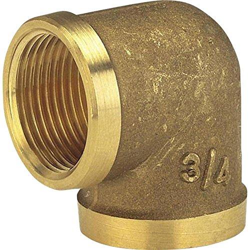 Gardena Messing-Winkel mit Innengewinde: Winkelstück mit 33.3 mm (G 1 Zoll)-Gewinde, zur Richtungsänderung von Rohren oder Schläuchen (7281-20)