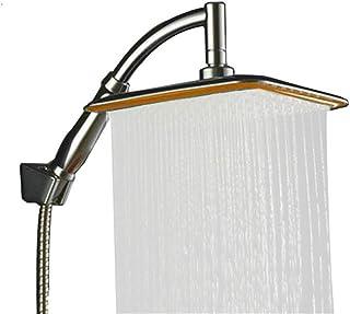 KAIQINYS Square thin rotatable top rain shower head wall mounted telescopic boom water saving