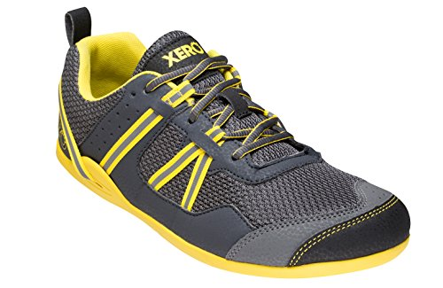 Xero Shoes Prio - Men's Minimalist Barefoot Trail and Road Running Shoe - Fitness, Athletic Zero Drop Sneaker - True Yellow