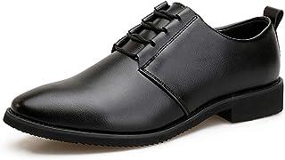 Tufanyu メンズビジネスオックスフォードカジュアルな柔らかい革レザークラシックファッションフォーマルシューズ 丈夫 (Color : ブラック, サイズ : 25.5 CM)