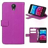 starz mobiles accessoires ARCHOS Core 50 - Tasche Gummi TPU Schutz Handytasche (Folio Purple)