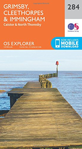 Price comparison product image OS Explorer Map (284) Grimsby,  Cleethorpes and Immingham,  Caistor and North Thoresby (OS Explorer Paper Map)