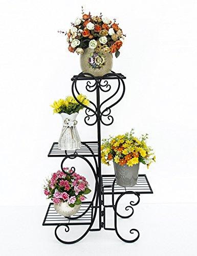 Étagères à fleurs polyvalentes Pot de fer de style européen porte balcon salon multicouche fleur Pour intérieur et extérieur (Couleur : 1)