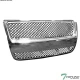 Topline Autopart Chrome Mesh Front Hood Bumper Grill Grille ABS For 07-10 Ford Explorer Sport Trac