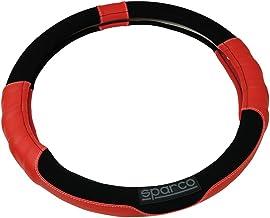 スパルココルサ スエードステアリングカバーSサイズレッド SPC1108RSJS