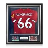 exclusivememorabilia.com Camiseta del Liverpool firmada por Trent Alexander-Arnold. Marco de Lujo