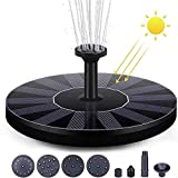 AEIMI Fuente solar para estanque con 7 efectos, bomba de agua solar para pájaros, bomba de agua solar flotante para baño de pájaros, jardín, piscina, estanque, al aire libre