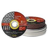 HAUTMEC Discos de corte de metal 115 mm x 1 mm x 22.23 mm 10 piezas, metal cortado, acero ...