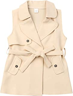 Toddler Kids Little Baby Girls Clothes Fashion Winter Wind Jackets Trench Coat Romper Dress...