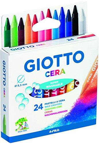 Giotto Cera 282200 - Estuche 24 ceras redondas de colores
