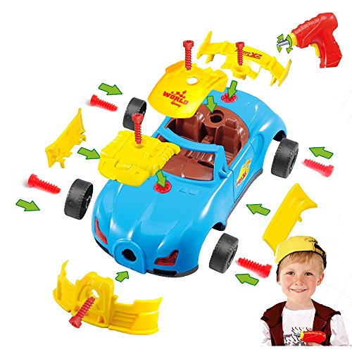 Product Image of the 2020 Take Apart Toy Racing Car for Toddlers, Build A Car Kit for Mini Mechanics,...