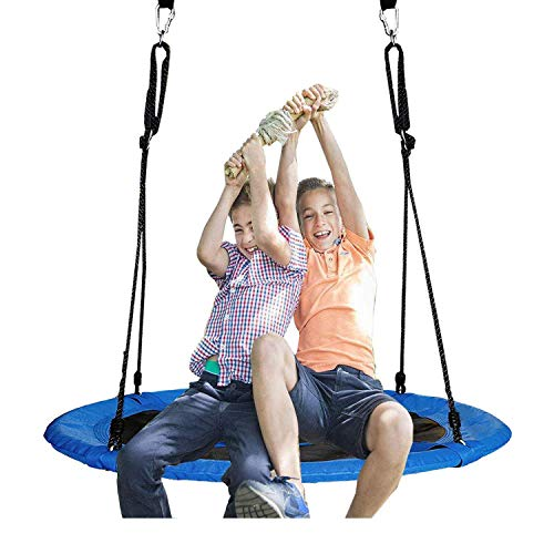 Jolitac Nest Swing Round Tree Swing Flying Family Swing Seat with Hanging...