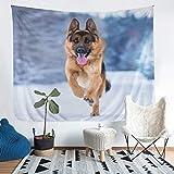 Tapices para colgar en la pared para niños y niñas con patrón de perro, lindo tapiz con estampado de animales, manta de pared, diseño de perro, decoración de dormitorio, manta grande de 69 x 91