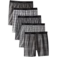 5-Pack Hanes Ultimate Men's Yarn Dye Exposed Waistband Boxer