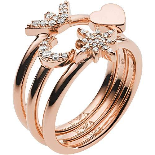 Emporio Armani Damen-Ringe 925 Sterlingsilber mit '- Ringgröße 56 EG3392221-8