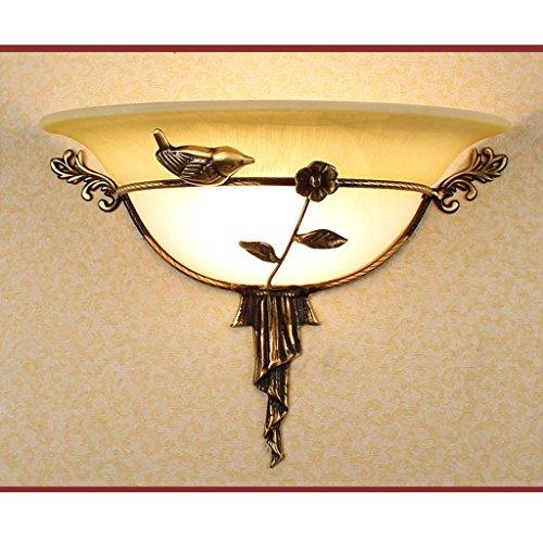 GBX Wandleuchten, European Style Pastoral Style Kupferlampe Led Wandleuchte Balkonlampe Ganglicht Treppenhauslampe Wohnzimmerlampe Schlafzimmer Nachttischlampe,Linker Vogel
