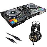 Hercules DJControl Jogvision DJ Software Controller with AKG K 240 Studio Pro Headphones & Stereo Mini Cable Bundle