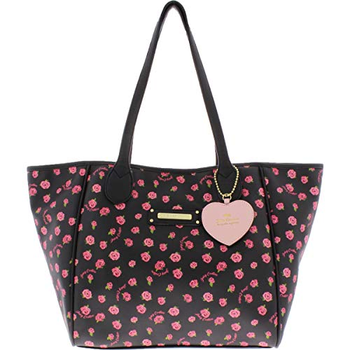 Juicy Couture Love Me Not Tote Black Ditsy Rose One Size