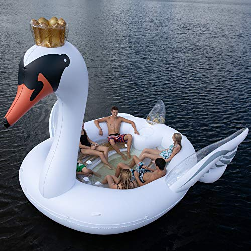 6-Person Inflatable Sunny SWAN Party Island