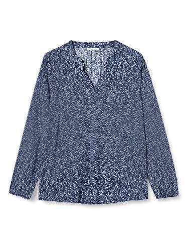 edc by ESPRIT Damen 117CC1F010 Bluse, Blau (Navy 2 401), Medium
