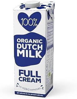 100%. Organic Full Cream Milk 1L | Full Fat | No Added Hormones | All Natural | No Preservatives | EU Certified Organic