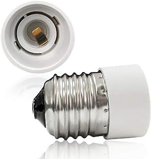 VARICART Base Transformador de Lámpara E27 a E14, Adaptador de Casquillo de Bombilla, Máxima Potencia de Vatios 500W Enchufe Resistente al Calor, No Inflamable Hasta 220 Grados (Pack de 5)