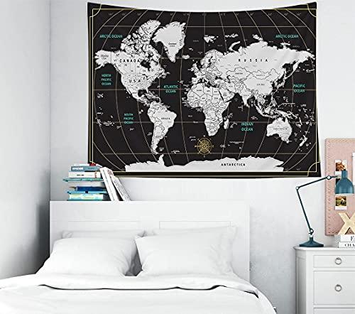 Alittle Mappa Del Mondo Alittle , , 40x30 Pollici Colorato Alittle Scratch Travel Mappa World Black Background Decorazioni Per La Casa Per Soggiorno Decorazione Dormitorio Camera Da Letto.