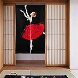 Generies Männer Küchenvorhänge Elegante tanzende Ballerinas für Mädchen Kinder Küchenvorhänge Glastür Verdunkelungsvorhänge Langer Typ für Wohnküchentür Dekoration 34 x 56 Zoll (86x143cm)