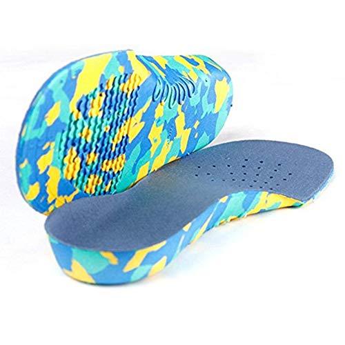 RoxTop Kreative Kinder Bogen orthopädische Einlegesohlen Ganzkörper Einsätze für Flat Feet wichtiger Ausrüster (Tarnung)