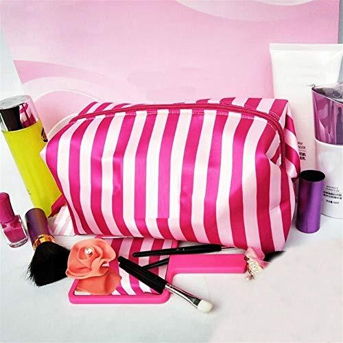 Sac transparent cosmétique PVC Sac de toilette Voyage Set maquillage Organisateur Pouch Makeup Case Esthéticienne Vanity Necessaire voyage (Color : Red)