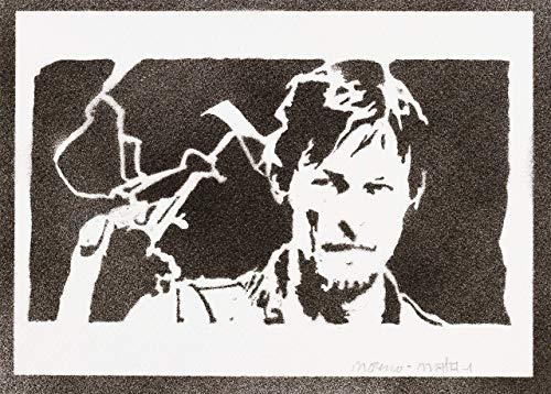 Poster Daryl Dixon The Walking Dead Grafiti Hecho
