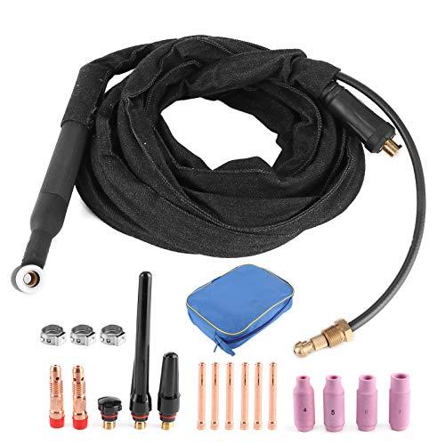 Antorcha de soldadura TIG de soldadura refrigerada por aire Pistola de soldadura TIG ligera de metal pequeña Pistola de soldador Durable para coche