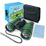 Binoculars for Kids Toys Gifts for Age 3-12 Years Old Boys Girls Kids Telescope Outdoor Toys for Sports and Outside Play Hiking, Bird Watching, Travel, Camping, Birthday Presents