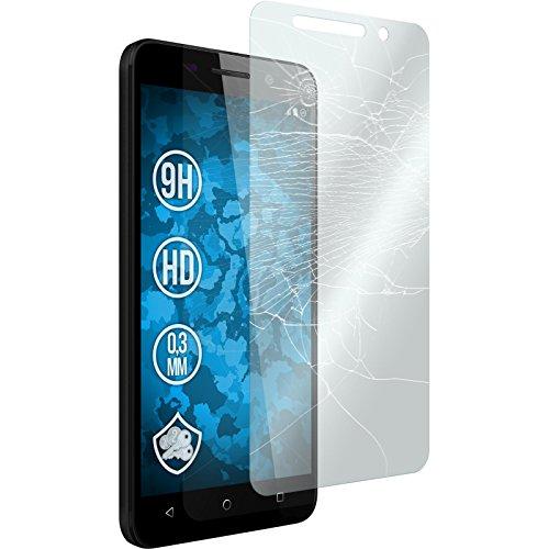 2x Glas-Folie klar kompatibel mit Huawei Honor 4X - Panzerglas für Honor 4X