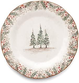 Arte Italica Natale Dinner Plate, Cream