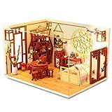DIY casa de muñecas de Madera Kit de artesanía en Miniatura, Mini Kits de artesanía de habitación, Tela Nueva para Regalo de cumpleaños Regalo de Boda de Navidad