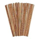 50 piezas de palos artesanales de madera, ANSUG palos cuadrados de bambú varillas de pasador de madera para construcción de edificios modelo de trabajo de arte DIY (5MM * 5MM * 30CM)