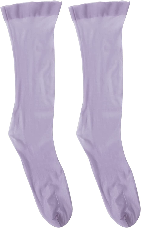 TiaoBug Women Ultra-Thin Transparent Socks Sheer Middle-length Stockings Summer Casual Socks