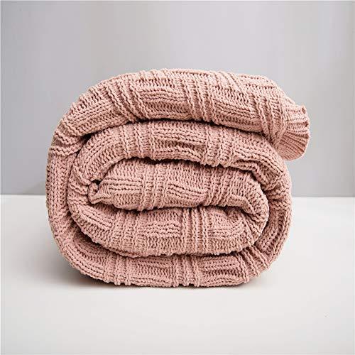 Bureau Siesta Climatiseur Couvre-lit double agneau cachemire Couverture Épaississement Canapé d'hiver super couvertures chaudes Throw Cozy,Rose,200x230cm