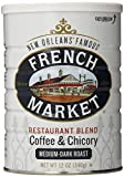 French Market Coffee, Coffee & Chicory Restaurant Blend, Medium-Dark Roast Ground, 12 Ounce Metal Can