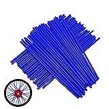Lot de 72 protections de rayons de roue de moto en plastique pour Moto Dirt Bike Yamaha YZ 80 85 125 250 YZ125 YZ426F YZ450F WR 250F 426F 450F - Bleu