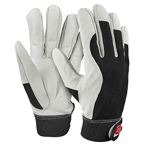 HandschuhMan. Hochwertige Arbeitshandschuhe weiche Lederhandschuhe mit Klettverschluß Gr. 6-11