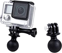 QKOO Ball Mount for GoPro Hero 8 Max 7 (2018) 6 5 4 3+ 3 Black Silver Session, Osmo Action, Xiaomi YI 4K, AKASO, SJCAM Sports Camera - Ball Head Mount Adapter (1-Inch Diameter Ball) with Thumb Screw